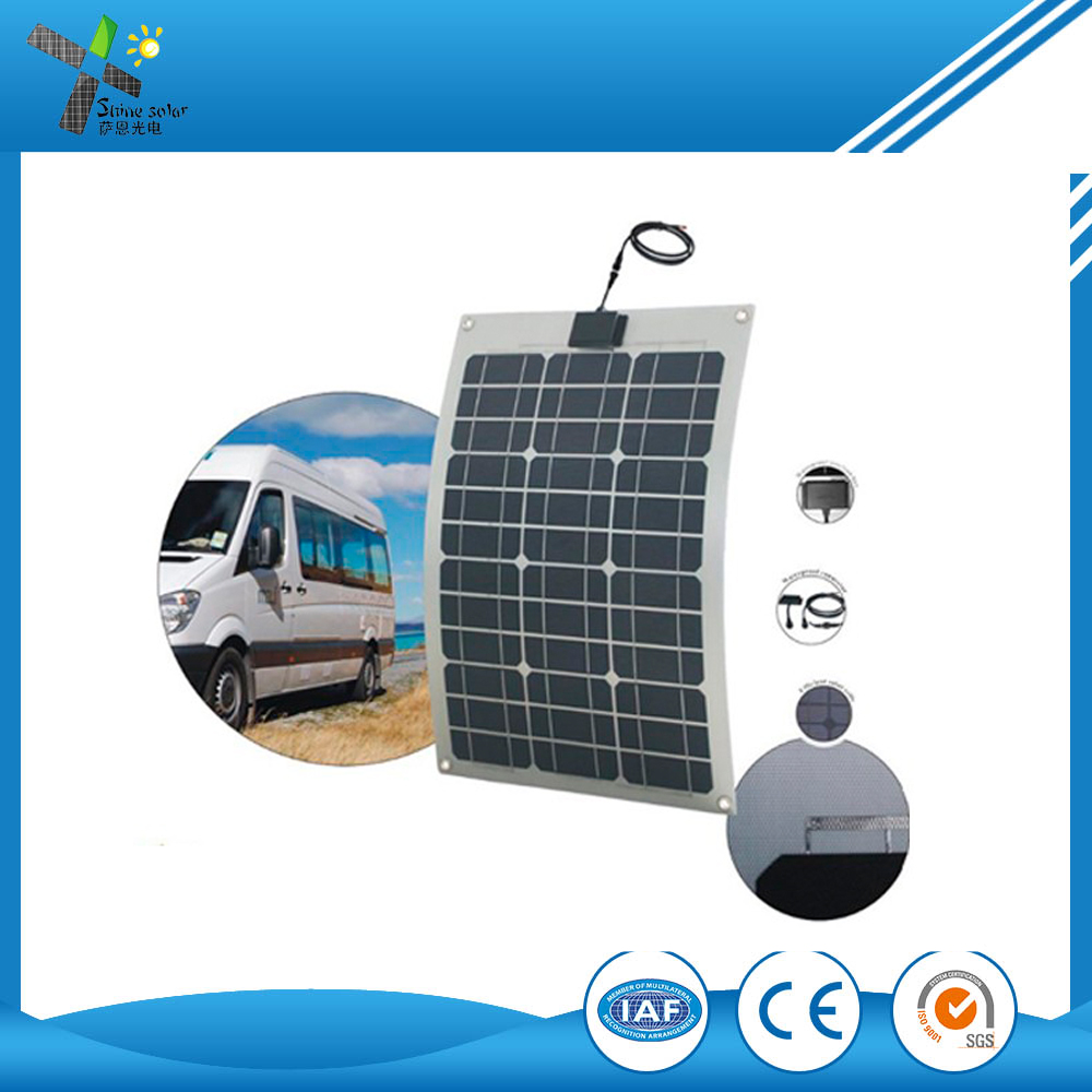 High Quality 40w Etfe Laminated Semi Flexible Solar Panel For Car Roof,Wing,Street Light,Home Use