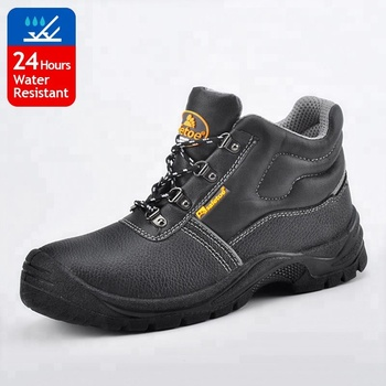 Hard work safety shoes low price with PU double density outsole