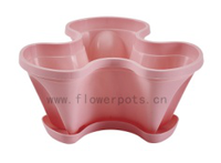2013 hot selling plastic stacking flower pot