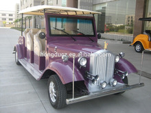 China brand new adult car electric 4.2KW motor, cheap 8 persons sightseeing car for tourist for sale