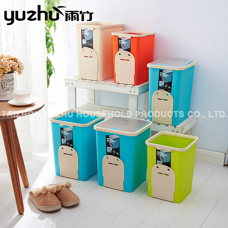 Promotional Various Durable Using 10L Rectangle Plastic Trash Bin