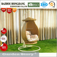 Good price fresh design patio rattan all-weather swing