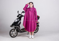 Hooded Waterproof Long PVC Bike Rain Poncho