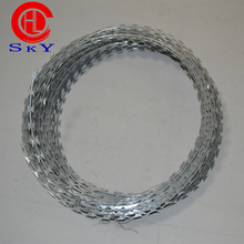 Security galvanized barbed wire on sale/hot dipped galvanized razor barbed wire from ShenZhou HongLi