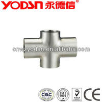 stainless steel pipe fitting sanitary cross