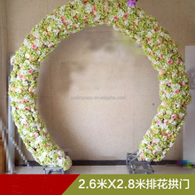 Wedding beautiful arch green and pink flower for wedding decoration 2016 new