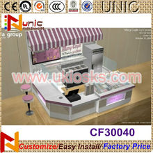 2014 China made frozen yogurt kiosk mall ice cream kiosks for yogurt design