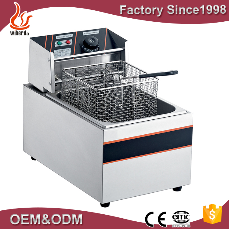 5.5L Table electric deep fryer one tank with baskets potato chips fryer machine