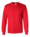 OEM Service Soft Men's Long-Sleeve T-Shirt Crew neck Tee 100% Cotton T shirt Rib cuff Tee