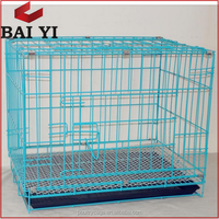 China Wholesale Cheap In Stock XXL Galvanized Pet Dog Crates With Wheels