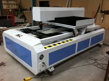 400W 3 axis laser die cutting board machine with a desk 1200 X1800mm