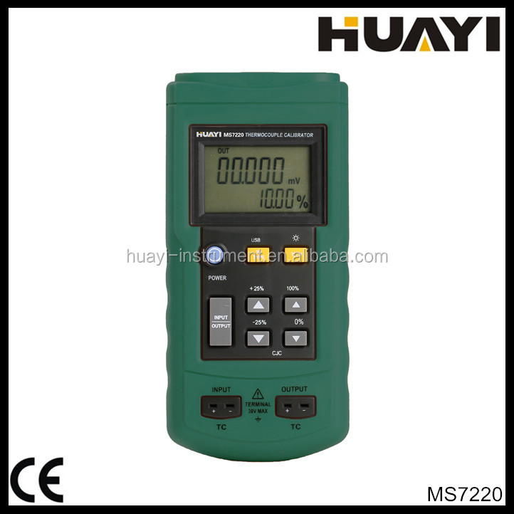 MS7220 the easy use thermocouple calibrator with indication in units of C, F , or mV