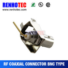 Right angle audio jack bnc connector female