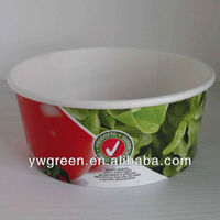 disposable vegetable salad bowl with lid