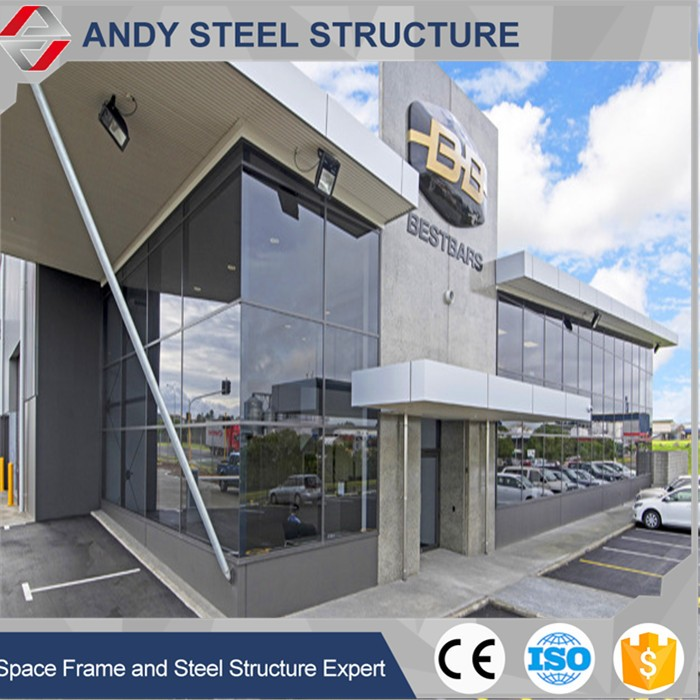 Elegant Prefabricated Steel Structure 4S Car Shop