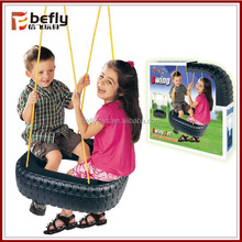 Hot sale tire children two seat swing