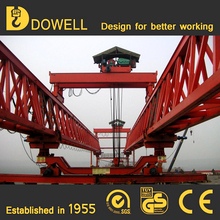 Transporting and erecting bridge girder launcher crane