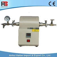 HB-TUBEF-1200C-MS 1100C High temperature the micro tube furnace atmosphere mini vacuum tube furnace-
