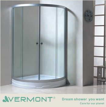 freestanding shower room wheels sliding glass