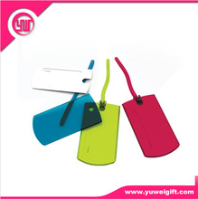 Zhongshan Factory Lovely and Colorful Travel Using Cheap Custom PVC Luggage Tag