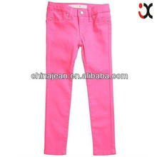 fashion colored skinny kids jeans for sale (JX9004)
