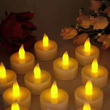mini led tea light candle gifts cheap candle wax factory interior decoration colorful led candle with timer