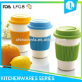 Prtotect hand scald-proof colorful silicone coffee cup lids