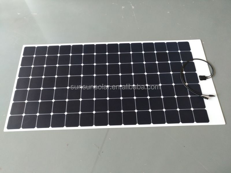 High efficiency Sunpower cell Semi Flexible solar panel 300W 320W