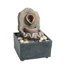 New style resin artificial indoor water fountain with river rocks