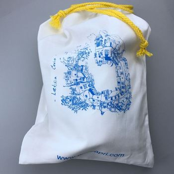 Durable drawstring cotton bag, grocery canvas drawstring bag, OEM production canvas tote bag