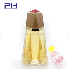 diamond shaped exotic wholesale glass spray glass perfume bottles 100 ml