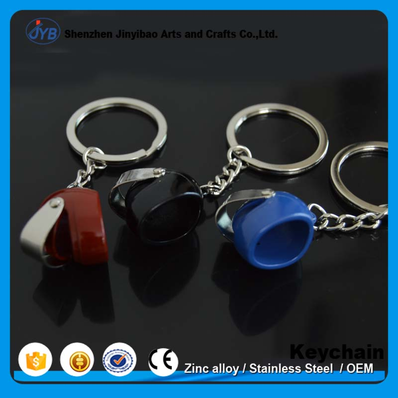 keychain type small motorcycle souvenir keyring custom 3d metal helmet key chain for promotion