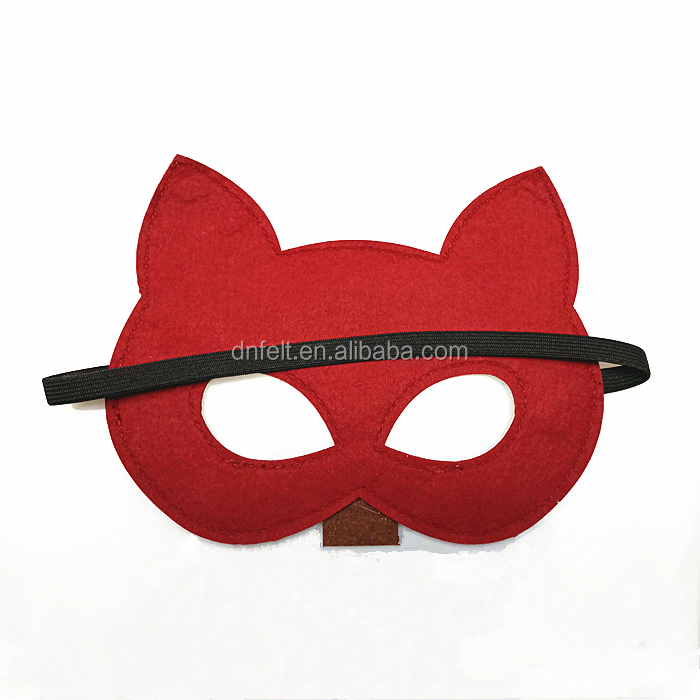 China suppliers wholesale custom felt toys half face mask for kids