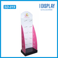 hot selling credit card holder cardboard display stand with peg hooks