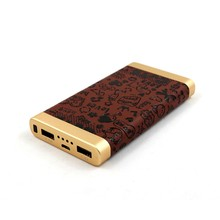 2017 portable charger leather polymer power bank 10000mah