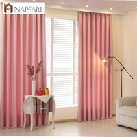 NAPEARL simple design modern thick blackout fabric living room curtains