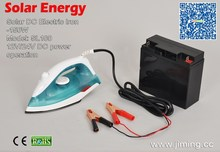 Solar DC Power: Electric Solar Energy 12V Battery Powered Iron:SL100 (Dry style)