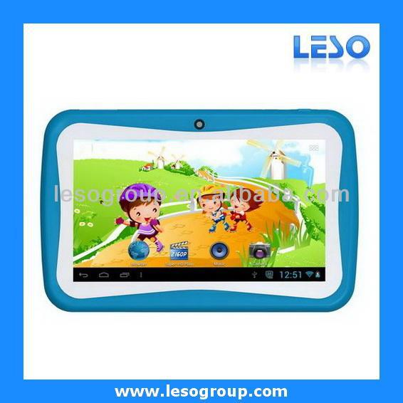 kids educational tablet pc dual core android 4.2 OS 4GB ROM 512MB RAM AN7003K
