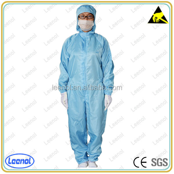 LN 105 Wholesale antistatic eco-friendly clothing coverall/ESD clothes