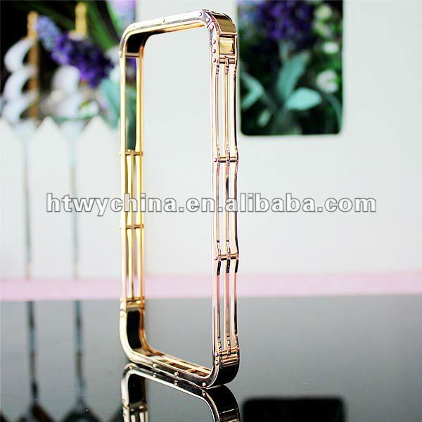Hot selling Gold iMatch 2nd screwless Stainless Steel Bumper Case for iPhone 5 5G 5S