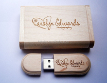 wholesale LOGO customized fashion wooden Box pen drive 8GB 16GB 32GB USB 2.0 usb Flash Drive pendrive thumb drive Memory stick