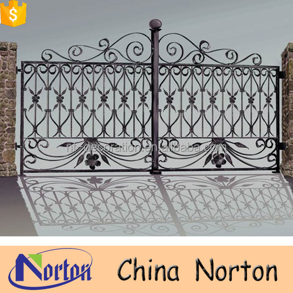 Wholesale modern sliding iron main gate design NTIG-162A