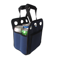 Six pack neoprene wine cooler bag
