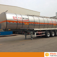 Stainless Steel Cooking Oil Tanker Trailer