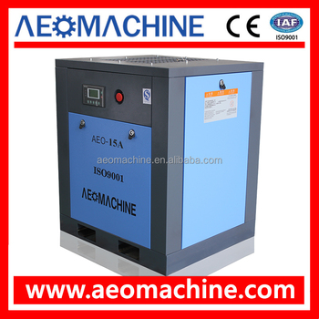 15KW Industrial Screw Type Air Compressor with Vertical Air Receiver Tank (Compressed Air Tank)