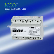 LOGOS Three Phase Din Rain Mounted Electronic Electric meter,watt hour meter,kwh meter,energy meter,LEM021AG
