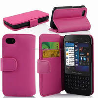 Wallet Style Pu Leather Case for Blackberry Q5