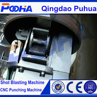 Internal steel pipe shot blasting descaling machine rust removal machine