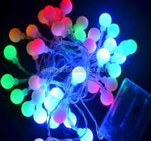 new design cheap price colorful mini ball string battery powered led christmas/holiday light