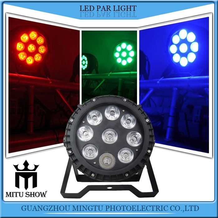 Professional 5in1 RGBWA DMX LED Outdoor Par IP65 Waterproof LED Wash Wall Flat Par Can Uplight